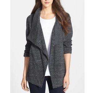 Eileen Fisher Terrazzo Charcoal Drape Front Jacket